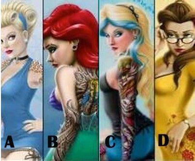 inked disney princesses alternative disney