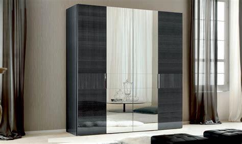 Hinged Mirror Wardrobe Doors by Antibes 4 Door Hinged Wardrobe Centre Mirror Doors