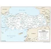 Harta Turcia Rutiera A Turciei Turistica Harti On