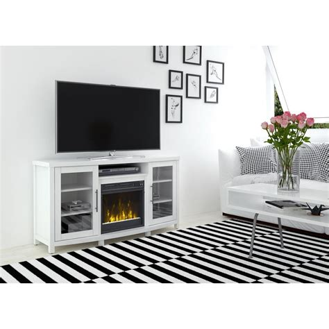 White Fireplace Media Center by Real Tracey Grand 84 In Entertainment Center