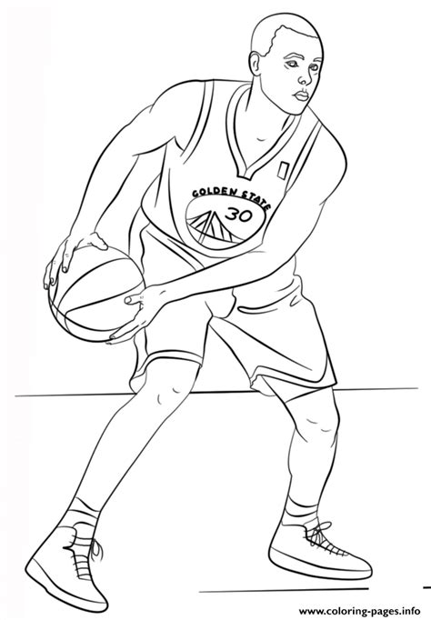 nba coloring pages to print print stephen curry nba sport coloring pages stephen