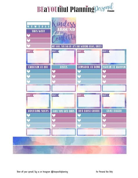 printable planner personal 1201 mejores ideas sobre free printables en pinterest