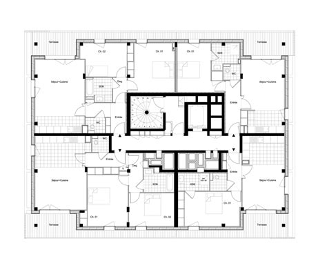 www floor plan design com gallery of housing and shops complex ameller dubois