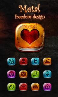 themes love for android download metal love heart for android theme htc theme