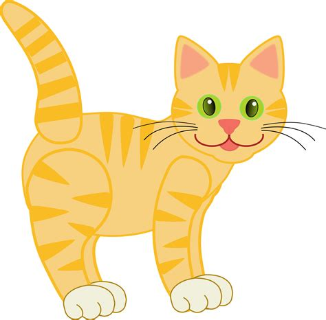 clipart cat clip version2 yellow tiger cat 15 10 8