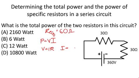 power of resistors in series ohm s problems for series circuits exle 4