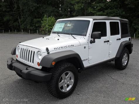 jeep rubicon white 2012 bright white jeep wrangler unlimited rubicon 4x4