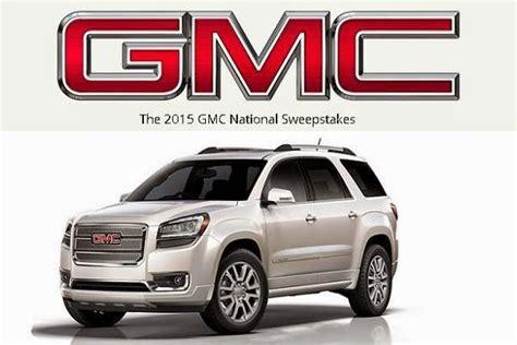 Gmc Sweepstakes - 2015 buick gmc national sweepstakes sweepstakesbible