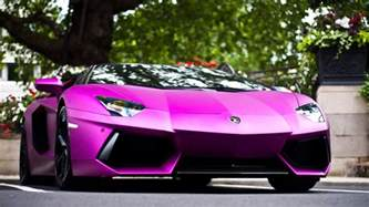 Lamborghini Purple Purple Lamborghini Aventador Hd Wallpaper Hd