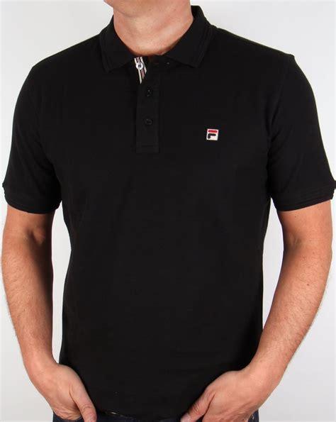 Polo Shirt Fila Keren Terlaris fila vintage cranze polo shirt black mens retro piping