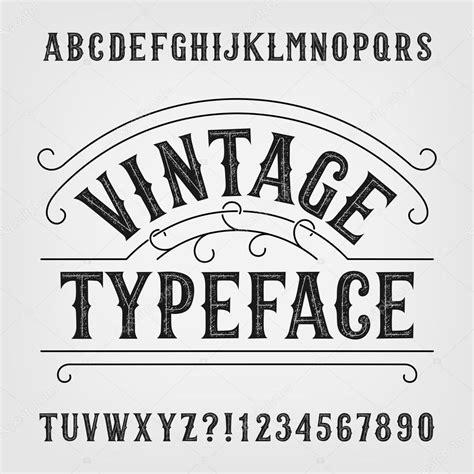 imagenes retro letra tipograf 237 a vintage fuente de vector alfabeto apenado