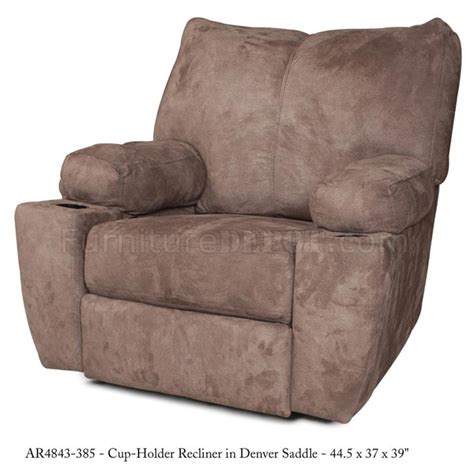 Modern Fabric Recliners by Saddle Fabric Modern Rocker Recliner