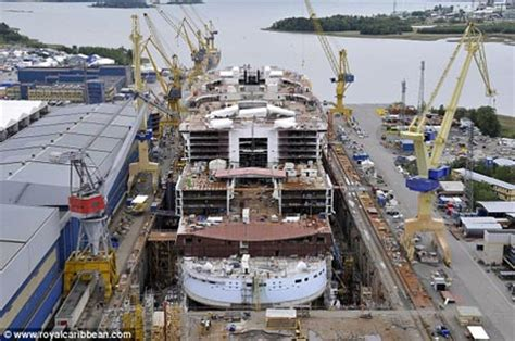 largest cruise ship being built world s largest cruise ship being built geekologie