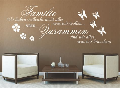 Farbgestaltung Kinderzimmer Beispiele 1995 by G317 Spruch Wandtattoo Familie Wir Haben Zusammen Sticker