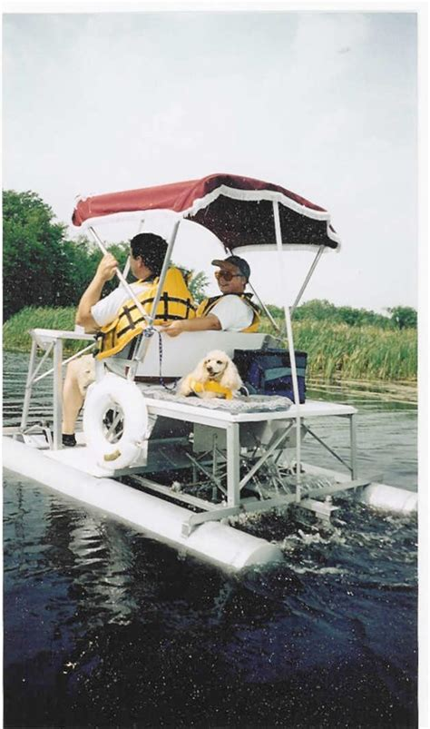 pontoon boats for sale peterborough aqua cycle pontoon boat paddle boat 1998 used boat for