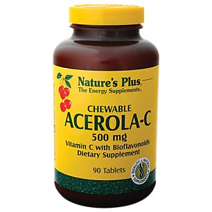 Rc152 C Chewable 90 Tablets acerola c 500 mg 90 chewable tablets by natures plus at the vitamin shoppe
