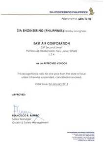 Approval Letter For Certification Iberia Approved Supplier