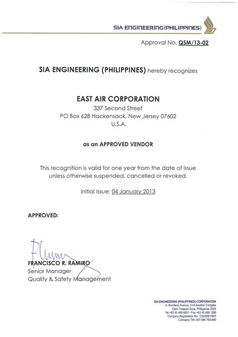 Commitment Letter Fda Philippines Iberia Approved Supplier
