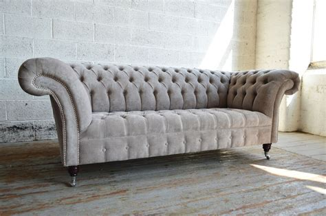 Chesterfield Fabric Sofa Bed by Modern Handmade 3 Seater Fabric Velvet