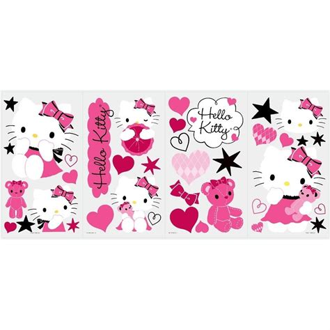 hello wall stickers large hello couture 38 big wall decals pink black vinyl room decor stickers new ebay