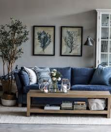 Blue Chair Living Room Design Ideas I Want A Blue Jean Furniture I Work Denim Sofa And Wall Colors