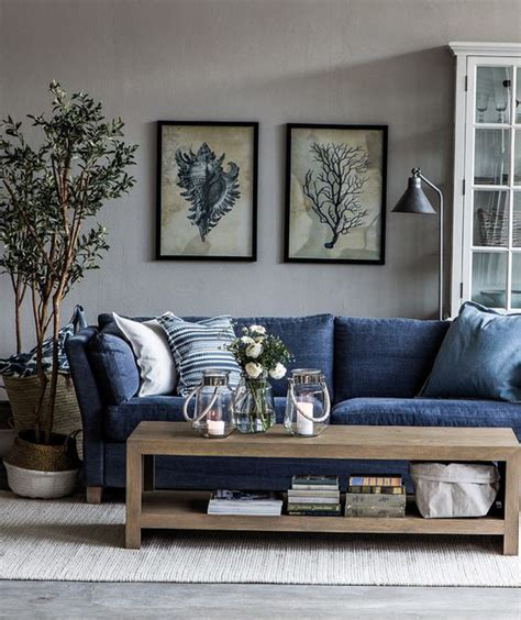 Blue Couches Living Rooms by I Want A Blue Jean Furniture I Work Denim Sofa And Wall Colors