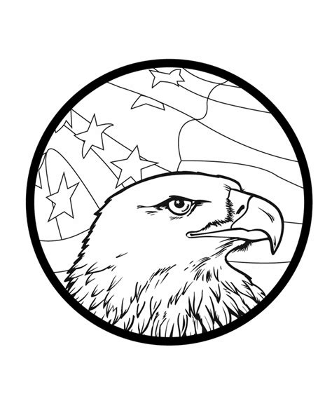 american flag and eagle coloring page american eagle free printable coloring pages