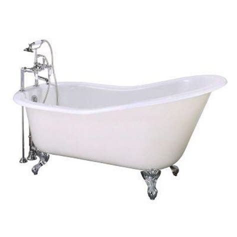 home depot bathtub faucets elizabethan classics 5 ft cast iron slipper tub with