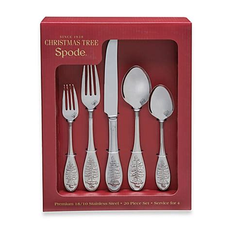 spode 174 christmas tree 20 piece flatware set bed bath
