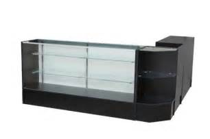 Reception Desk With Glass Display Showcase Jewelry Dispensary Glass Desk Counter Reception Desk Display