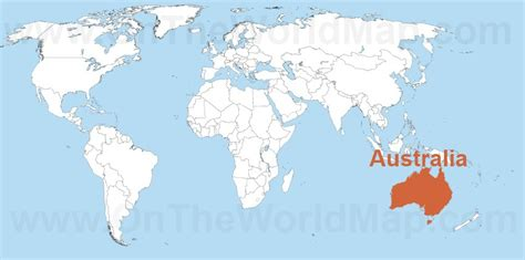 australian map of world australia on the world map australia on the oceania map