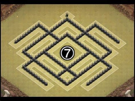 desain layout th7 clash of clans town hall 7 th7 air sweeper war trophy