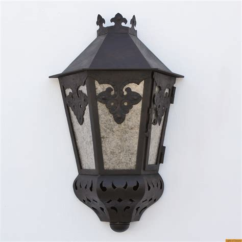 Mexican Outdoor Lighting Lights Of Tuscany 7044 1 Mexican Style Forged Wrought Iron Outdoor Pocket Lantern L