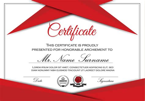certificate template vector web free
