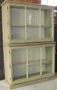 Curio Cabinet Made From Windows Trash To Treasure 2 Windows 2 Drawers New