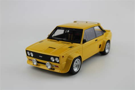 top marques collectibles fiat 131 abarth 1977 plain yellow