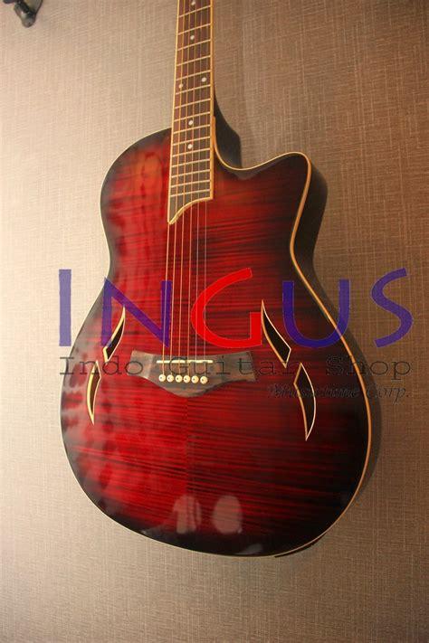 jual gitar t5 maroon custom