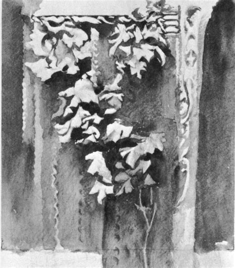 Psketch Of Leafage With A Single Wash By John Ruskin