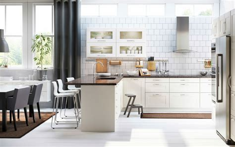 ikea kitchen cabinets white scandinavian ikea kitchen remodel with white cabinets and