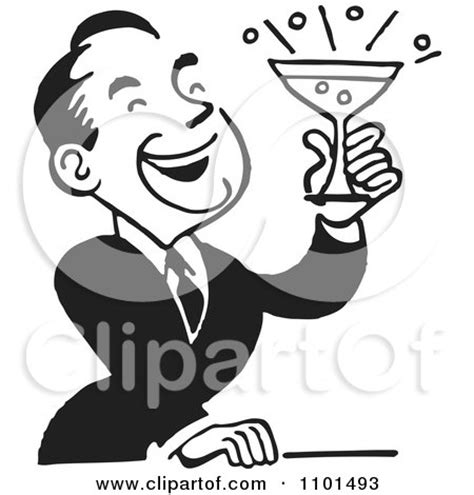 mixed drink clipart black and white royalty free rf black and white retro clipart