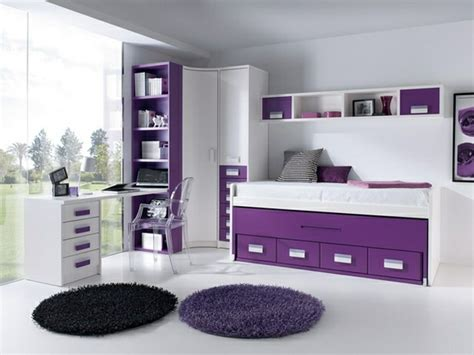 Superior  Ideas Decorar Dormitorio Juvenil #7: Luminoso-purpura-blanco-ventanal-moderno.jpg