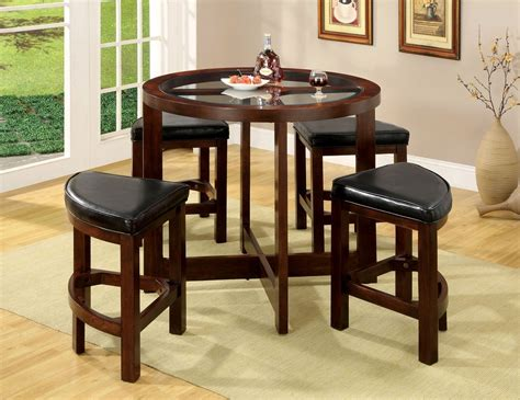 glass top bar table set crystal cove 5pc glass top counter height table stool set