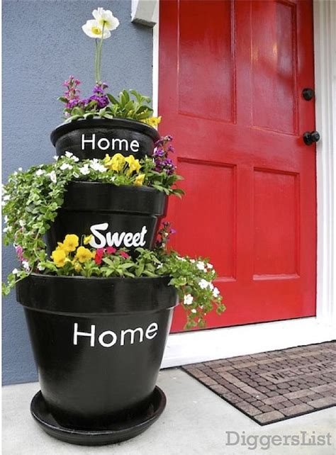 Planters House by Stacked Diy Planters For Your Home