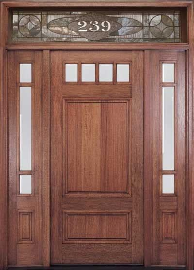 Traditional Wooden Front Doors Craftsman Wood Door With Transom Craftsman Front Doors Other Metro By M4l Inc