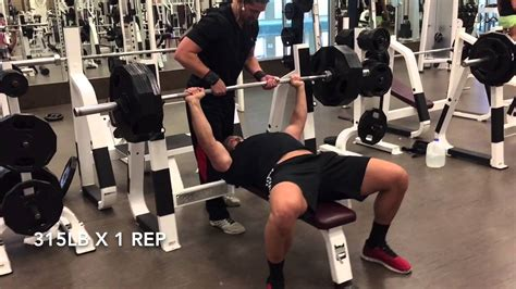maxing out bench press bench press max out the sean healey youtube