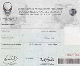 record policial en ecuador requisitos para la obtenci 243 n del record policial