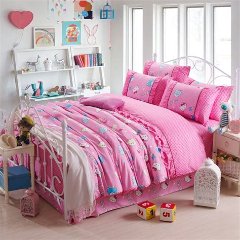 kids comforter sets for girls pink duvet cover hello kitty bed sheets totoro bed line