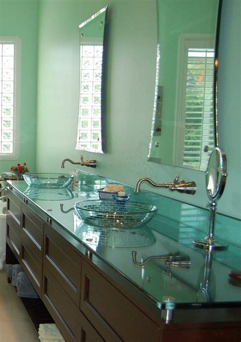 glass bathroom countertops glass countertops residential gallery anchor ventana