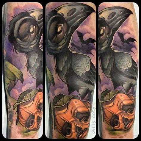 tattoo new school crow 138 best images about tattoo artist kelly doty on