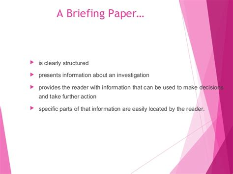 how to write a briefing paper how to write a breifing paper